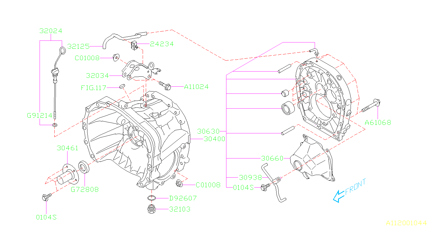 MT, CLUTCH HOUSING. FOR OIL PUMP. Diagram