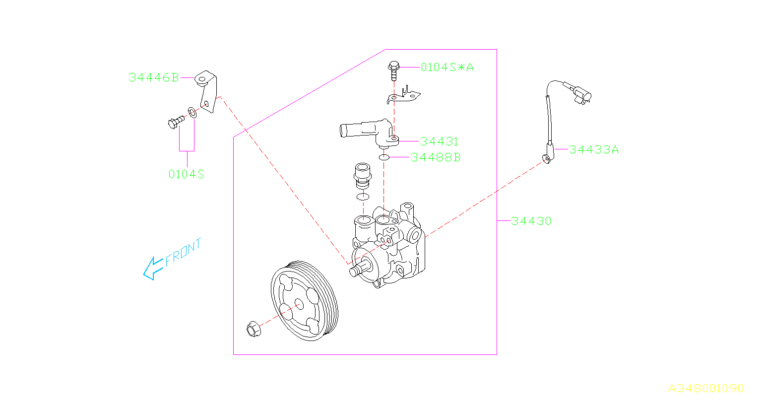 OIL PUMP. PUMP '04MY-. Diagram