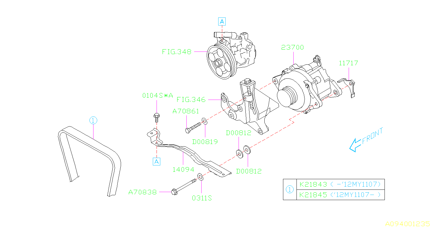 ALTERNATOR. SYSTEM. Diagram